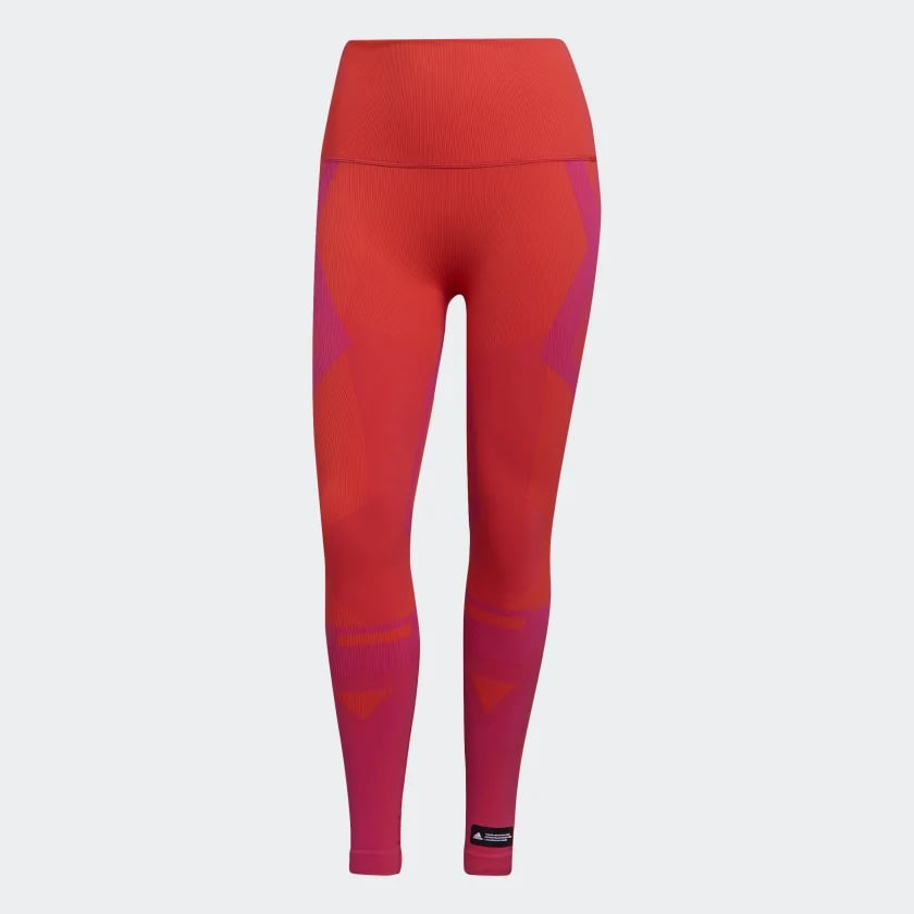 Formotion Sculpt Two-Tone Tights in Orange/Pink