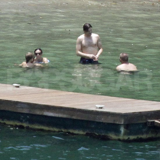Ashton Kutcher Relaxes Shirtless in Brazil With Bikini Clad Demi Moore!