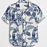 Hawaiian Print Short-Sleeve Short