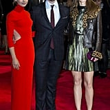 Lily Collins, Sam Claflin, and Suki Waterhouse posed as a trio at the London premiere of Love, Rosie on Monday night.