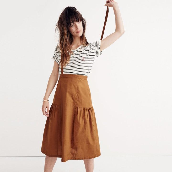 e82af8ea2 Madewell Suspender Midi Skirt | Best Midi Skirts | POPSUGAR Fashion ...