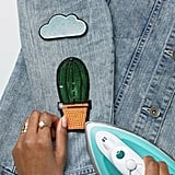 DesignB London DesignB Iron-On Cactus And Cloud Patches