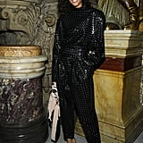 Cindy Bruna at the Balmain Paris Fashion Week Show