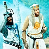 Monty Python and the Holy Grail (age 13+)) The Pythons' loony take on the King Arthur legend is still hilarious. Just be ready for strong language and bawdy humor (those vestal virgins!).