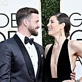 Justin Timberlake and Jessica Biel had a case of the giggles in 2017.