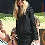 Rachel Zoe, who's expecting her second child, brought her son, Skyler, to the pumpkin patch in LA.