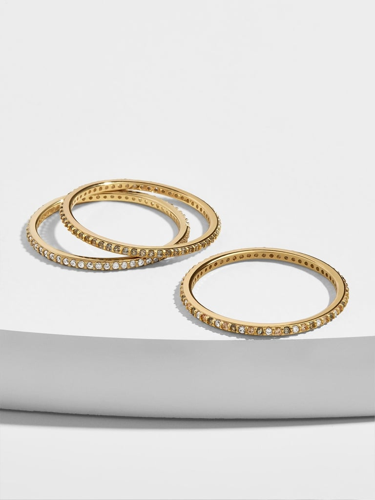 Baublebar Almina 18K Gold Vermeil Ring Set of 3