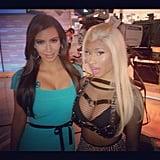 Kim Kardashian and Nicki Minaj posed for a photo during a visit to Today studios in NYC. Source: Instagram user kimkardashian
