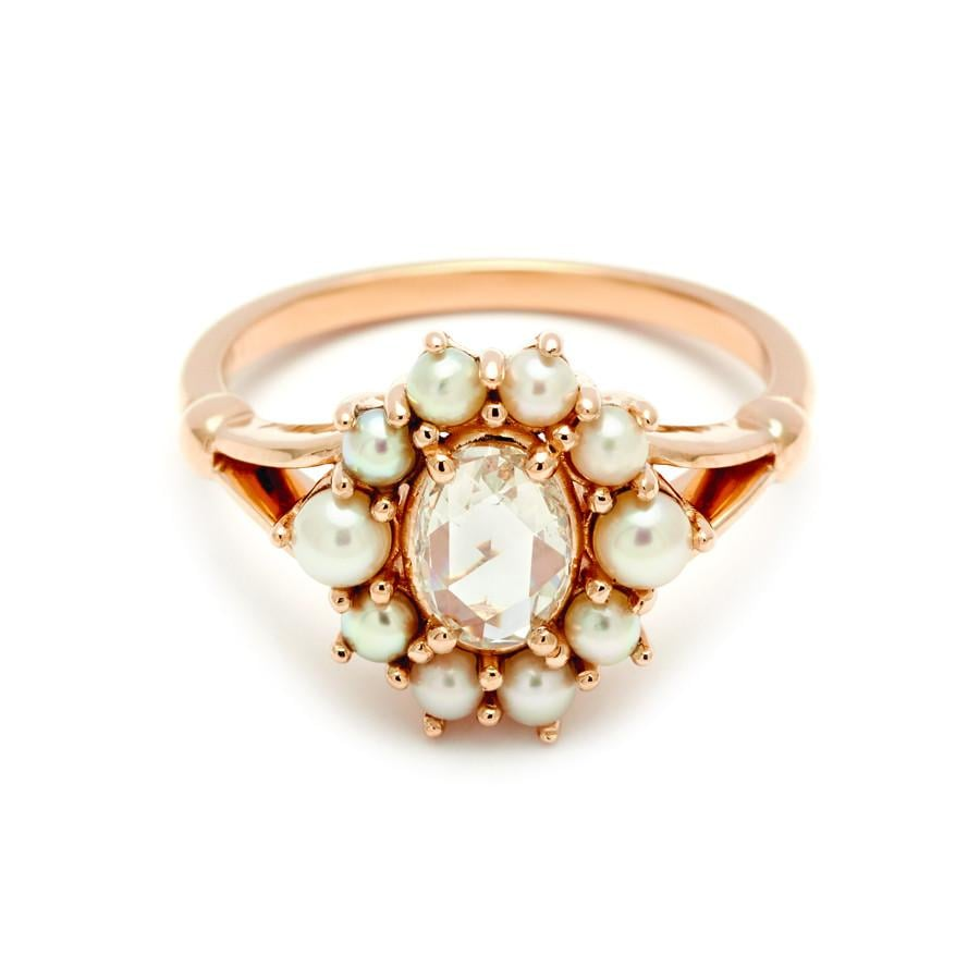 f0c0a8652ce60 Anna Sheffield Celestine Ring Yellow Gold, Champagne Diamond and ...