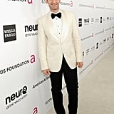 Matthew Morrison wore a white jacket to Elton John's Oscar party in LA.