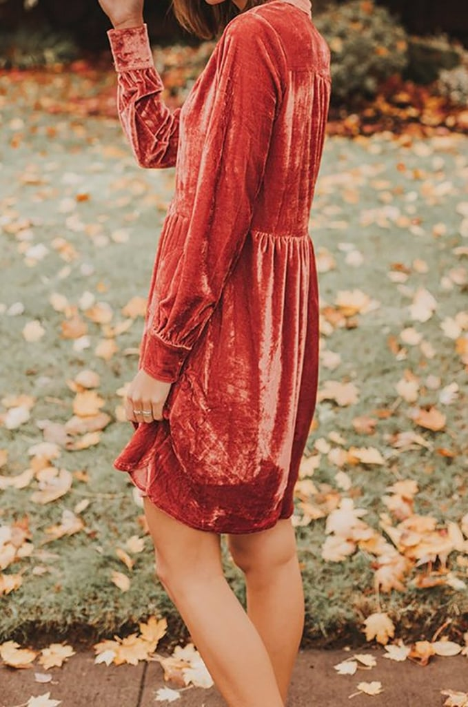 Foshow Velvet Dress