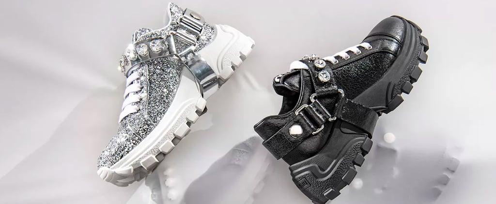 Miu Monstar Miu Miu Glitter Sneakers
