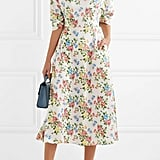 Emilia Wickstead Floral Print Crepe Midi Dress