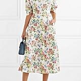 Emilia Wickstead Floral Print Crepe Midi Dress