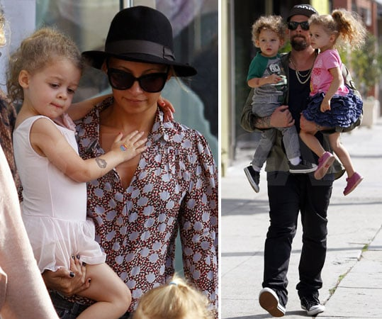 Nicole Richie With Harlow and Sparrow Dance Class Pictures