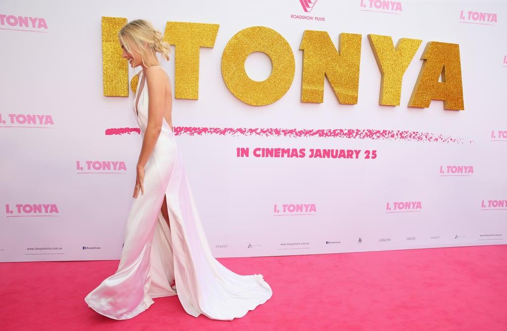 Margot Robbie White Dress at I, Tonya Australia Premiere