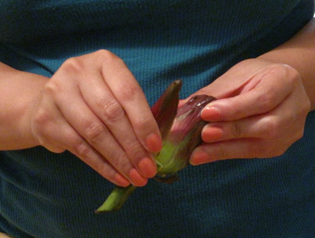 Get rid of the outer leaves . . .