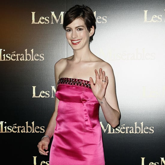 Anne Hathaway and Eddie Redmayne at Paris Les Miserables