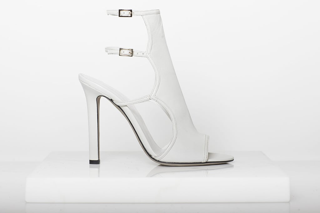 Bad Girl Nappa Open Toe Bootie in Cream ($750) Photo courtesy of Tamara Mellon