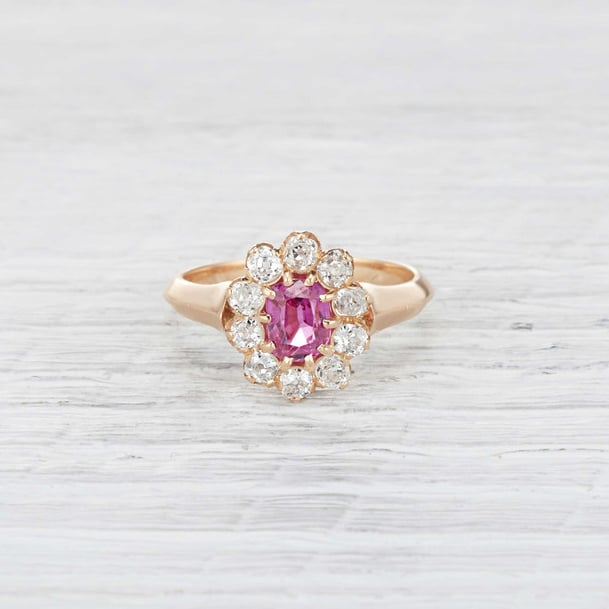Erstwhile Jewelry Victorian pink sapphire ring ($2,200)