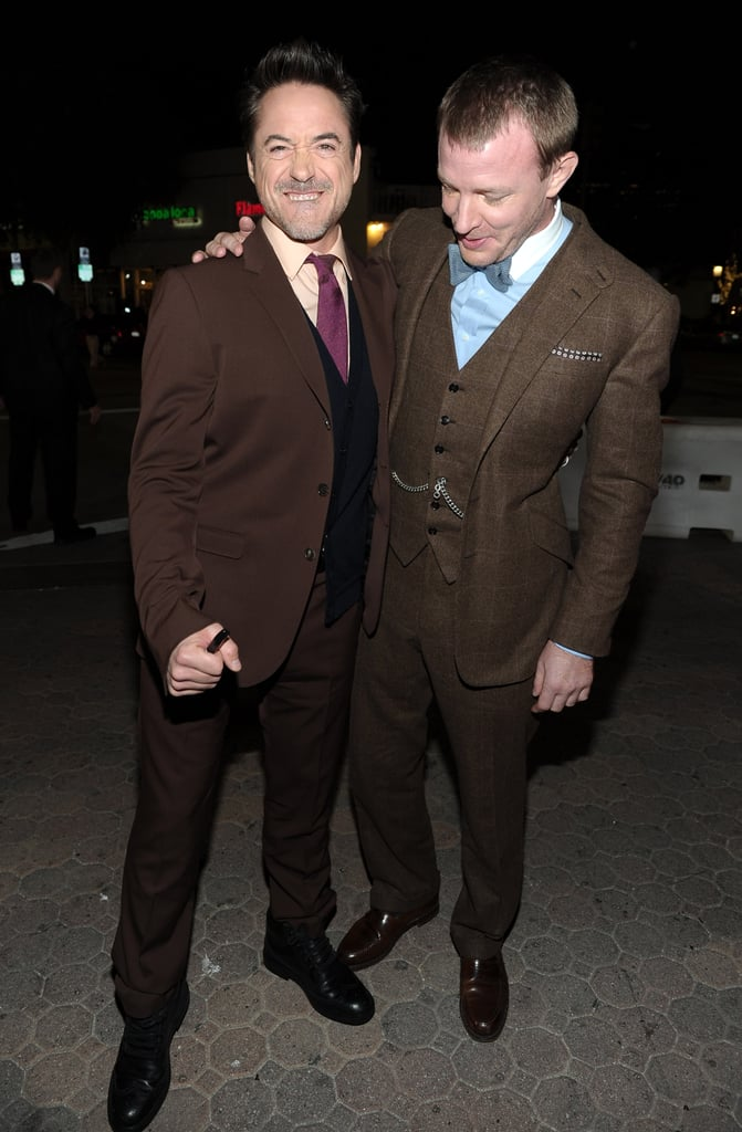 Robert Downey Jr. and Guy Ritchie had fun together in LA.