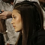 While eyeliner wasn't used for the look, individual lashes gave a bit of definition to models' faces. Photo: Megan Holmes