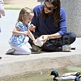 Jennifer Garner Monkeys Around With Smiley Seraphina