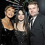 Sylvia Rhone, Camila Cabello, and Rob Stringer at the 2020 Sony Music Grammys Afterparty