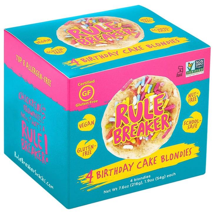 Rule Breaker Snacks, Birthday Cake Blondies