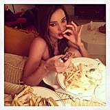 For supermodel Miranda Kerr, it involved fries.