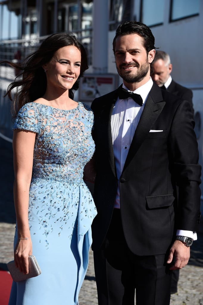 Prince Carl Philip and Sofia Hellqvist attended a special dinner in honor of their wedding on Saturday in Stockholm, Sweden, on Friday. The couple, who got engaged in June 2014, have had plenty of sweet moments since they started dating over five years ago, and their arrival to the prewedding dinner just added to them all! Sofia stunned in an embellished blue gown while Prince Carl Philip looked every bit like Prince Charming in his tuxedo as they boarded the S/S Stockholm. Other notable guests included King Carl XVI Gustaf of Sweden and Queen Silvia of Sweden as well as Prince Carl Philip's sister Crown Princess Victoria and her husband, Prince Daniel. There will be even more festivities to come when Prince Carl Philip and Sofia tie the knot on Saturday at the Royal Chapel at the Royal Palace of Stockholm.