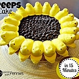 Peeps Sunflower Cake