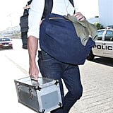 Ryan Gosling left LAX with a full load.