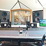 Here's the impressive sound board in the control room for studio A. There are two studios in the Castle, studio A and studio B.