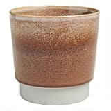 Brown Reactive Glaze Cement Planter