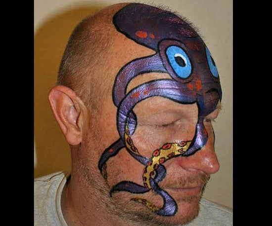 How to Create a Cool Octopus Halloween Face Paint Look