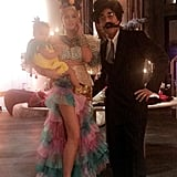 Chrissy Teigen and John Legend as Carmen Miranda and Groucho Marx