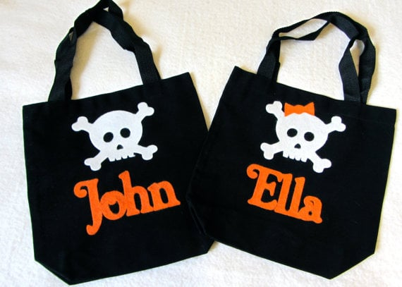 Personalized Little Skull Bags