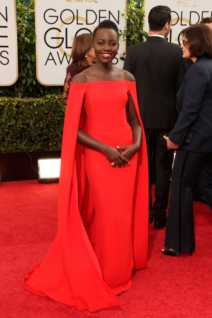 Lupita Nyong'o at the Golden Globes