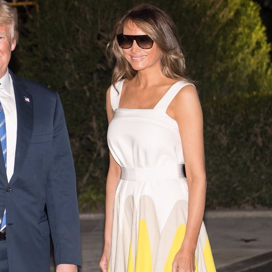 Melania Trump Wearing Delpozo Dress