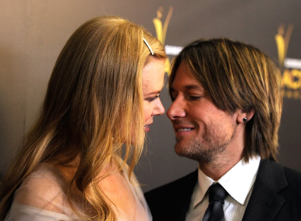 Keith went in for a kiss at the Australian Academy of Cinema and Television Arts Awards in LA in Jan. 2012.