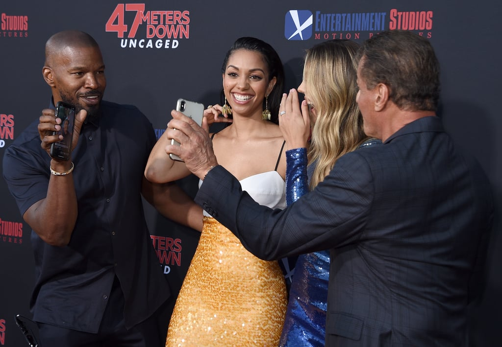 Jamie Foxx and Sylvester Stallone at 47 Meters Down Premiere