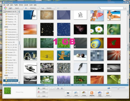 Oh Happy Day - Picasa's Storage Increases To 1GB