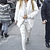 Gigi Hadid Wearing All White January 2016