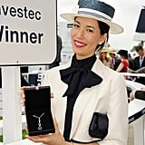 """The winner of the What Best to Wear"""" best dressed award posed at the event."""