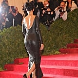 Rihanna walked the red stairs in Tom Ford.