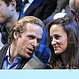 Pippa Middleton caught a sporting event in London.