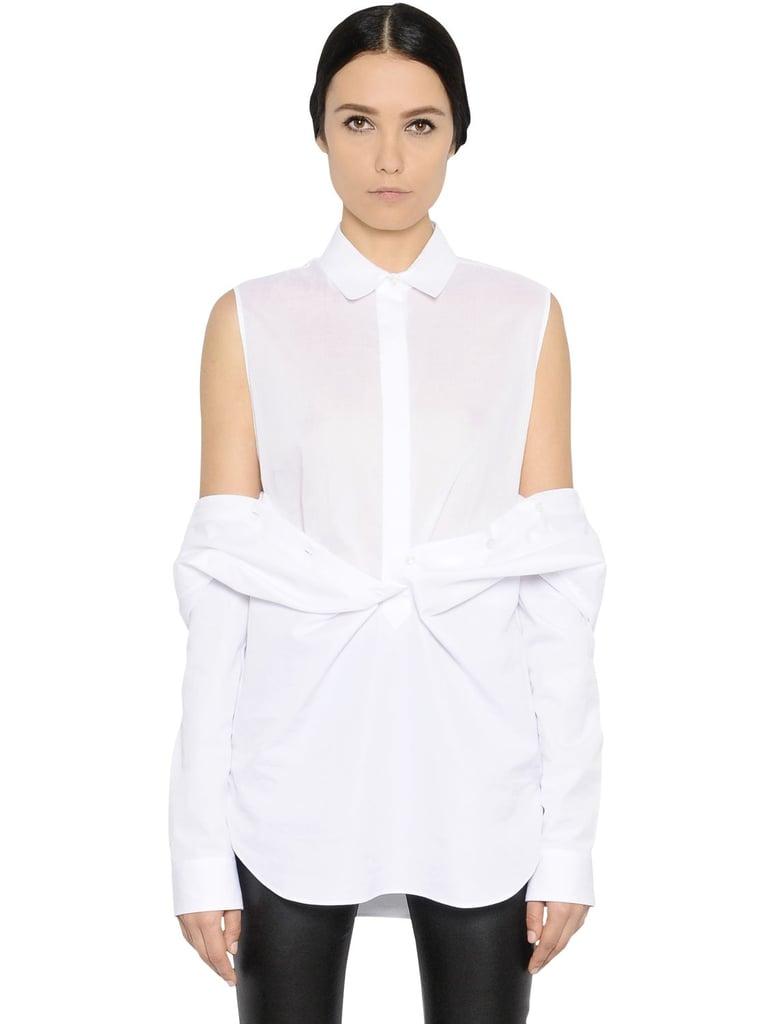 Maison Margiela Layered Cotton Poplin Shirt ($950)