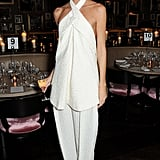 Claudia Donaldson dined with The London Edition and Nowness in relaxed white separates.