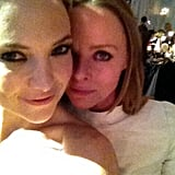 Kate Hudson and Stella McCartney stayed close at the Elle Style Awards. Source: Twitter user StellaMcCartney